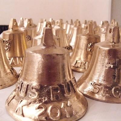 Glockengießen - jeder konnte seine eigene Glocke gießen.