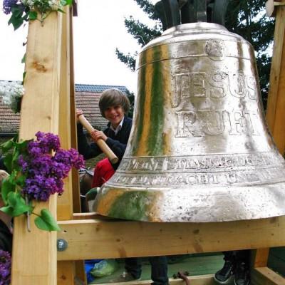 Jesus-ruft-Glocke nach der Fertigstellung.