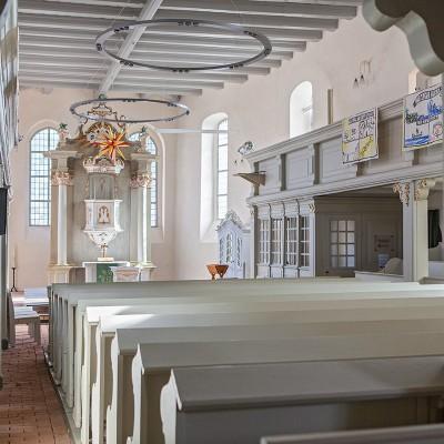 Die Lambertus-Kirche in Brück - Innenansicht
