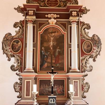Die Kirche in Rottstock - Altar
