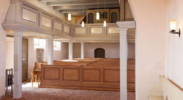 Die Kirche in Rottstock - Innenansicht