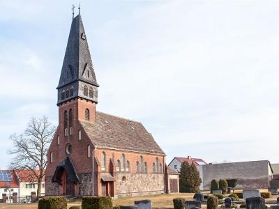 Die Kirche in Trebitz - Außenansicht