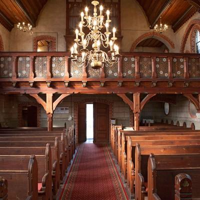 Die Kirche in Trebitz - Empore und Orgel