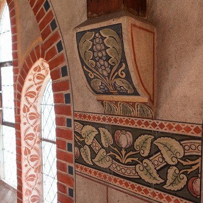 Kirche Trebitz Detailaufnahme