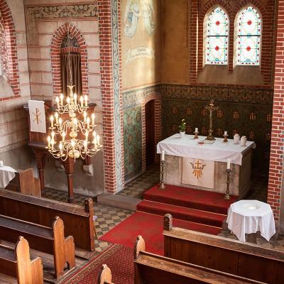 Kirche Trebitz Innenaufnahme