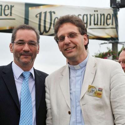 Pastor Kautz mit Michael Platzeck