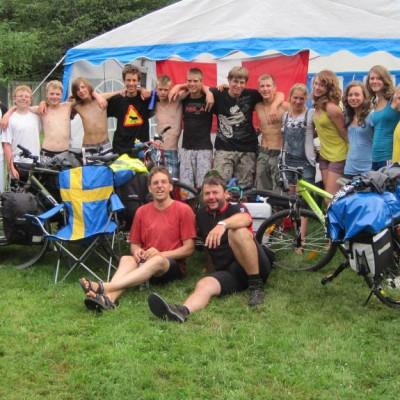 Schwedenfahrradfahrt mit Jugendlichen - Fahrrad fahren und zelten