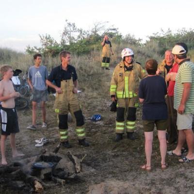 Schwedenfahrt mit Jugendlichen - von der Feuerwehr erwischt