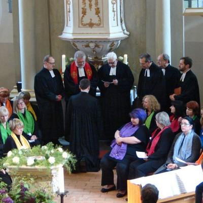 Einsegnung von Pfarrer Kautz in Brück