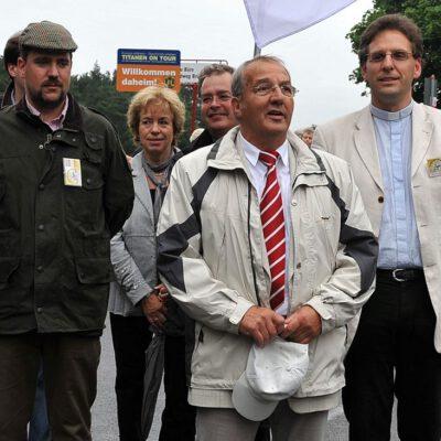 Traditionell ein gutes Verhältnis - Stadt- und Kirchengmeinde in Brück (Ankunft Titanen on tour 2009)