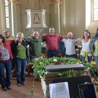 Der Gospelchor - eine Mannschaft