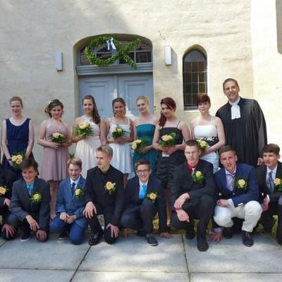 Konfirmation 2014 in Brück - die Konfirmanden