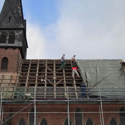 Trebitzer Kirche - Das Dach ist wird eingeplant