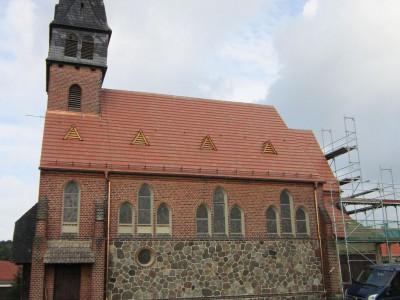 Die Sanierung der Evangelische Kirche in Trebitz ist fast abgeschlossen.