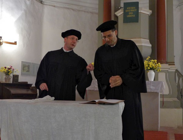 Lutherfest Neuendorf - Luther und Gregor von Brück debattieren