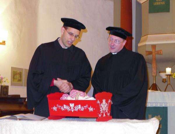 Lutherfest Neuendorf - Luther und Gregor von Brück singen den Hans in den Schlaf