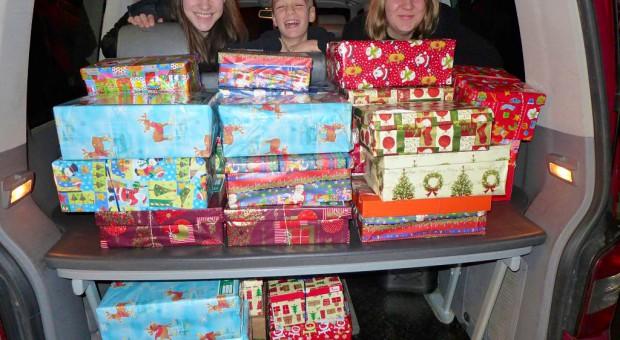 Es wurden über 30 Pakete für die Aktion