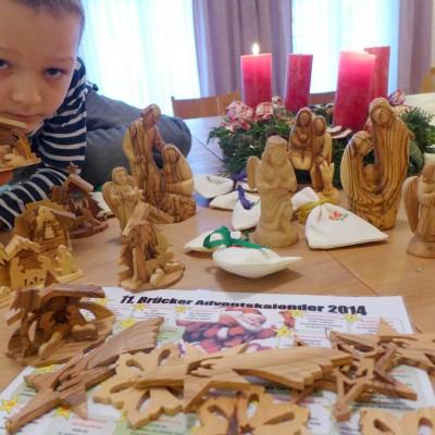 Krippenfiguren aus Bethlehem präsentiert von Albert Kautz