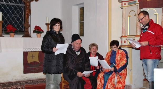Krippenspielprobe in Gömigk mit Frank Schulze