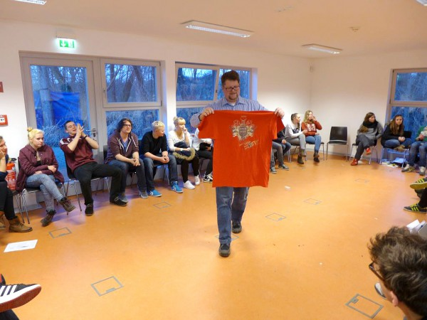 T-Shirt zum Event - Vorbereitung auf das Konfirmandencamp 2015 in Mötzow