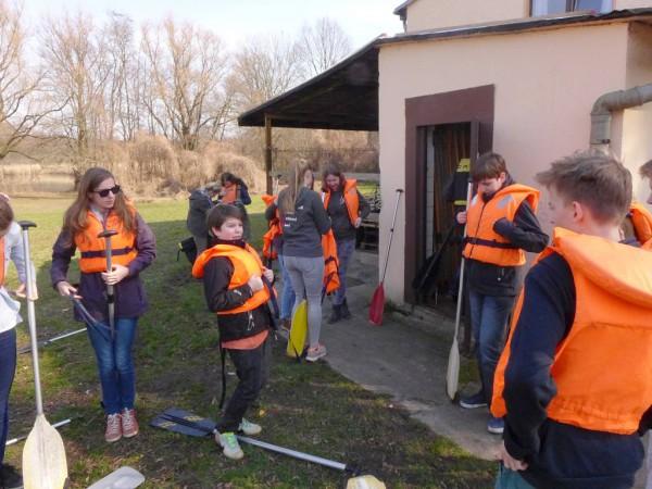 Konfirmandencamp Mötzow: Kanusicherheit