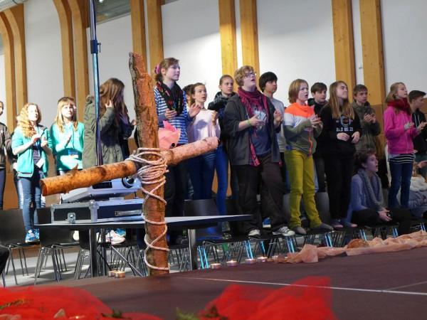 Konfirmandencamp Mötzow: gemeinsamer Gesang