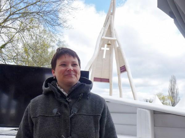 Bärbel Bör hat alles organisiert - Kirchenschiff der BUGA in Brandenburg 2015