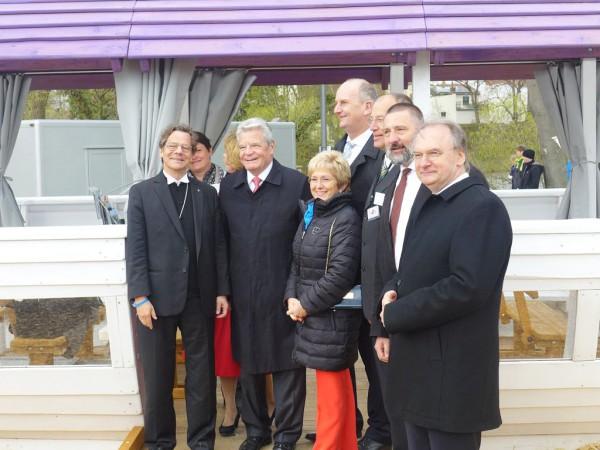 Bundespräsident Gauck am BuGa-Kirchenschiff