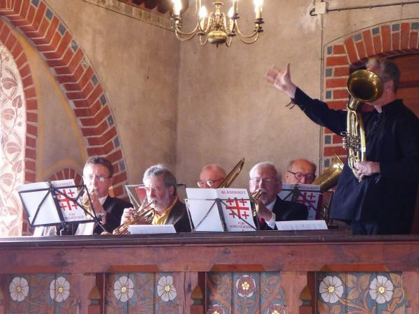 Bläserchor beim Gottesdienst - Gemeindefest 2015