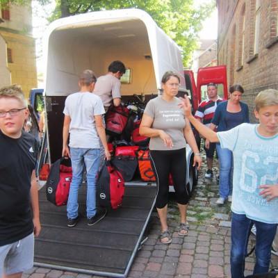 Abfahrt zur Schweden-Fahrradtour 2015