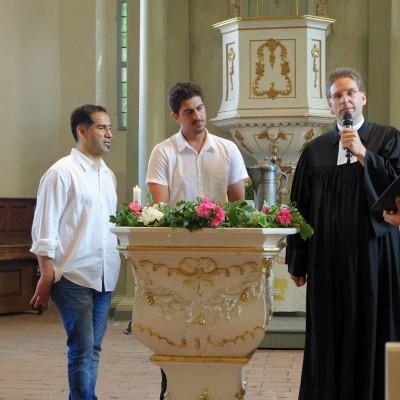 Taufe in der Lambertuskirche Brück