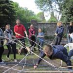 lebendiger Konfirmandenunterricht in Brück zum Thema Vertrauen - Konfirmanden im Evangelischen Pfarrbereich Brück
