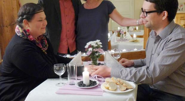 Ehediner mit den Ehepaaren Rößler und Demmler