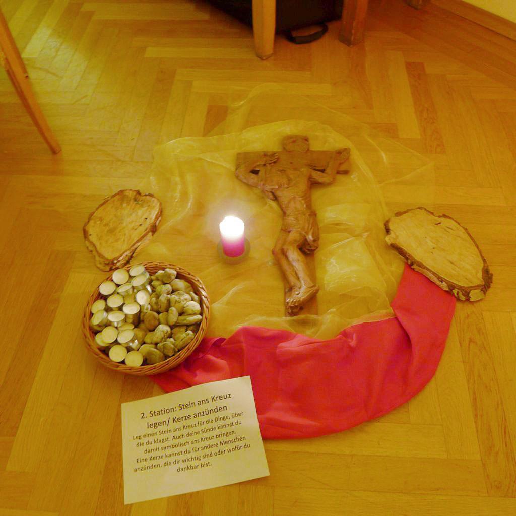 Gebetsstation beim Jugendgottesdienst