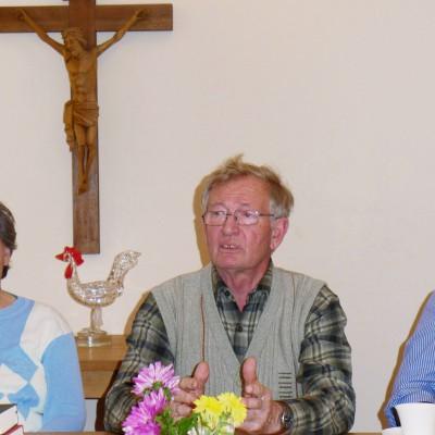 Ehemaliger Landrat Lothar Koch beim Gemeindenachmittag in Brück