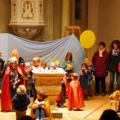 Sankt -Martin-Aufführung in Brück