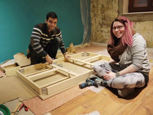 Neue Jugendräume für den CVJM Region Bad Belzig - Jascha und Julia können endlich die Jugendräume einrichten