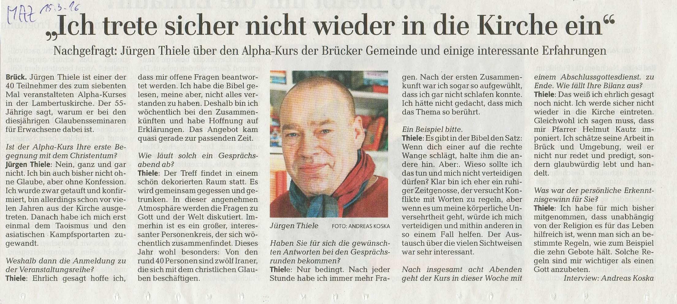 Interview Alphakurs