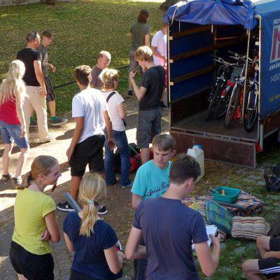 Los geht's! - Fahrradtour der Jugendlichen durch Schweden 2016
