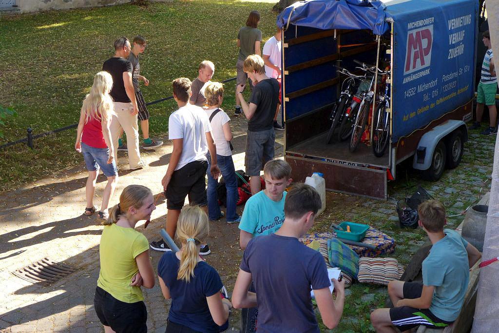 Fahrradtour der Jugendlichen durch Schweden 2016