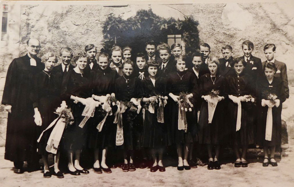 Konfirmation Rottstock 1956