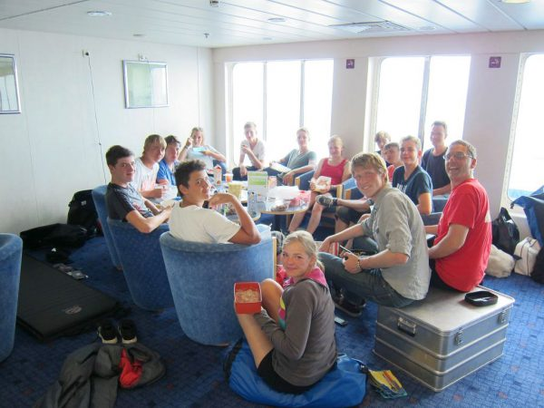 Essen auf der Heimfahrt - Schweden-Fahrradtour 2016