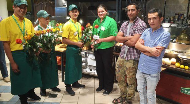 Merci, Marché - sechs Asylbewerber aus Brück in Lohn und Brot