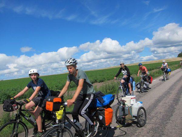 Unterwegs bei tollem Wetter - Schweden-Fahrradtour 2016