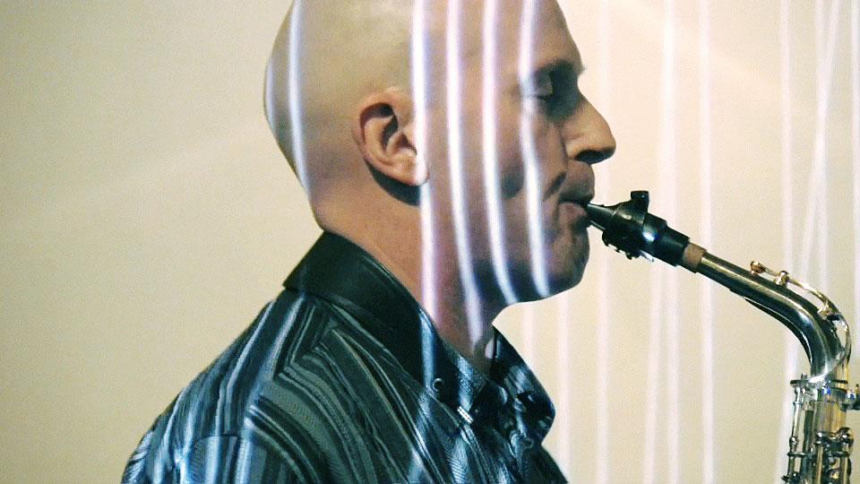 Saxophonist Joachim Gies