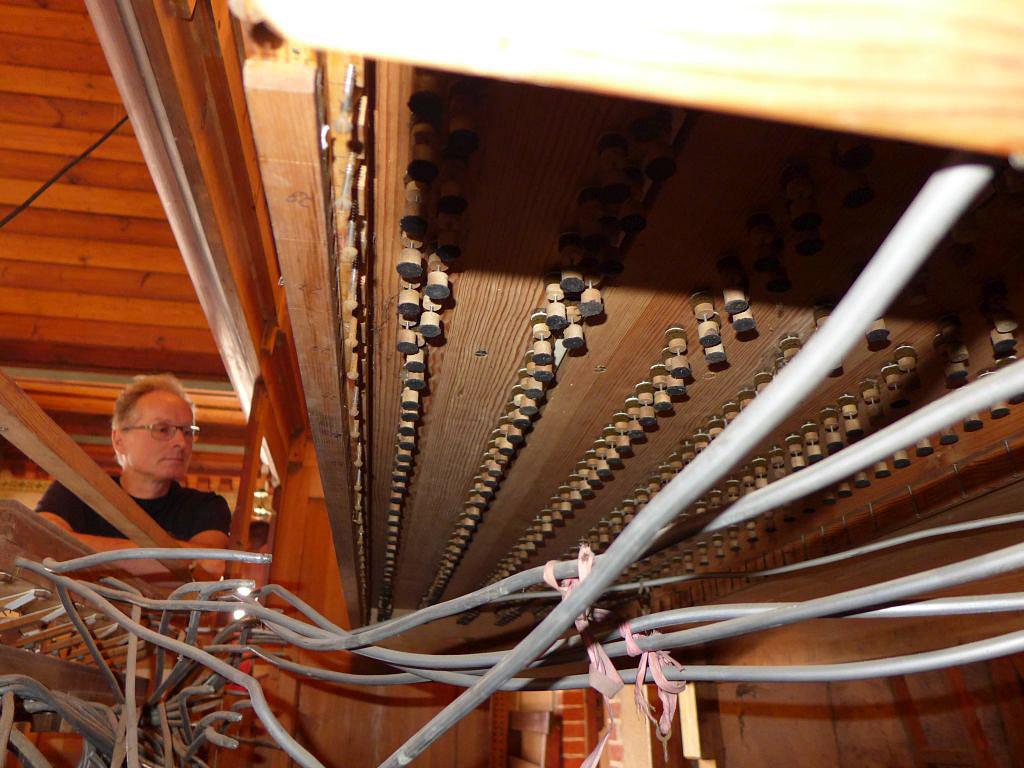 Orgel in der Kirche Trebitz