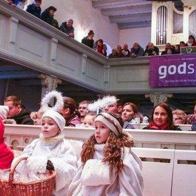 Brücker Weihnachtskonzert mit Weihnachtsmann und Godspot