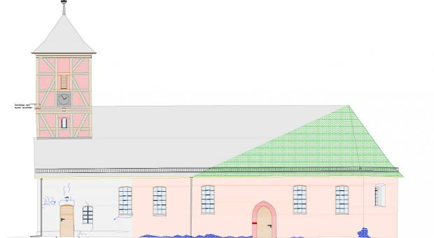 Analysebild der Neuendorfer Kirche