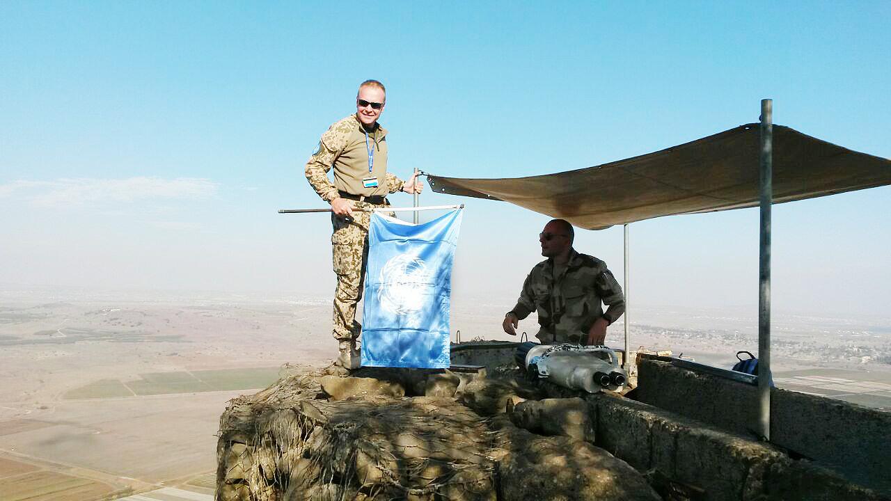 Reise nach Israel 2017: UNO Soldaten auf dem Golan