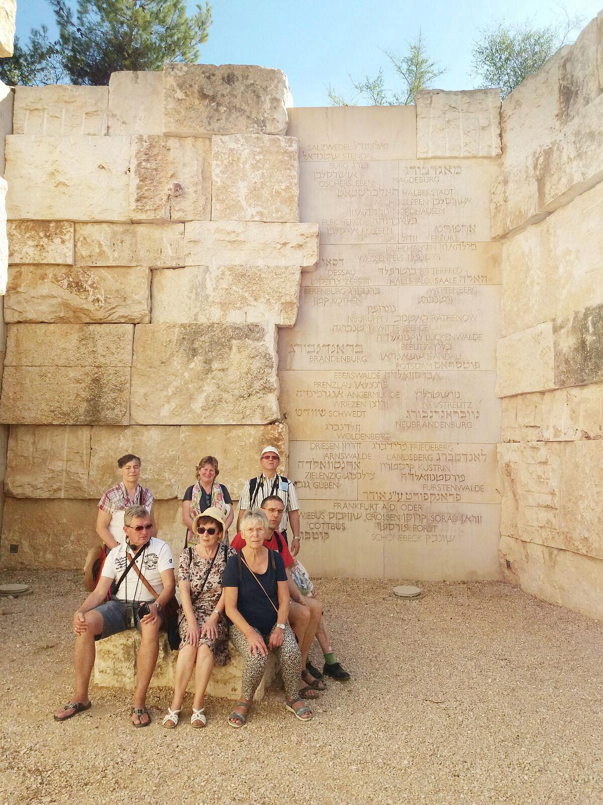Reise nach Israel 2017: Die Gruppe im Tal der ausgelöschten Gemeinden inkl Beelitz